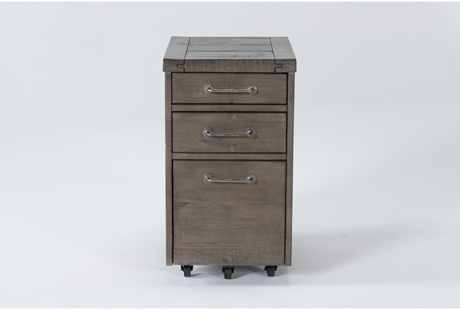 Jaxon Grey Mobile Filing Cabinet With 3 Drawers - 360