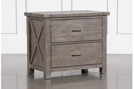 Jaxon Grey Lateral Filing Cabinet With 2 Drawers