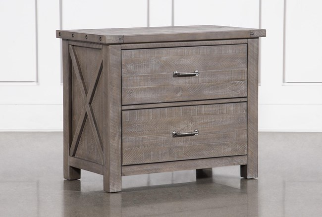 Jaxon Grey Lateral Filing Cabinet With 2 Drawers - 360