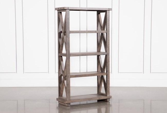 Jaxon Grey 68 Inch Bookcase - 360