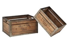 Magnolia Home Magnolia Farms Rectangular Produce Crates Set Of 2