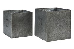 Magnolia Home Metal Square Kinlen Boxes Set Of 2