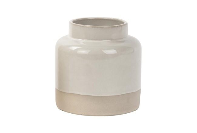 Magnolia Home Ceramic Vase Wide Ivory - 360