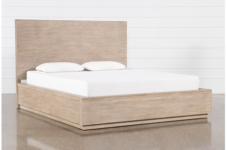 Pierce Natural Eastern King Panel Bed