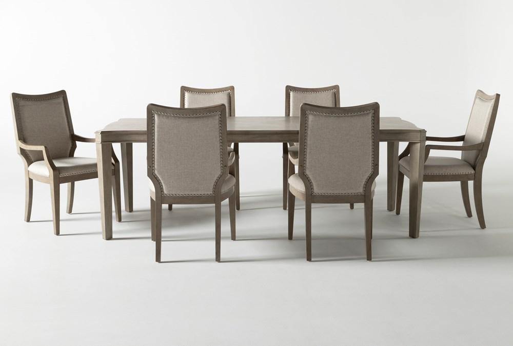 Regent 7 Piece Extension Dining Set With Arm Chairs