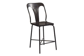 "Magnolia Home Gaven Metal Stamped 42"" Counterstool By Joanna Gaines"