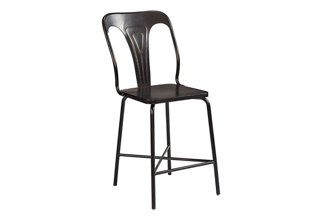 Magnolia Home Gaven Metal Stamped Counterstool By Joanna Gaines - 360