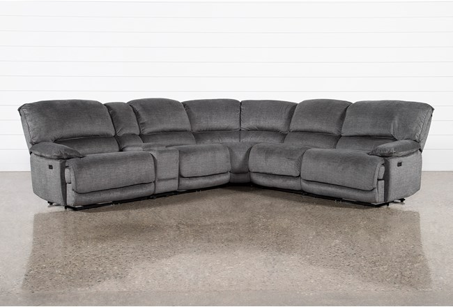 Bonaire 6 Piece Reclining Sectional With Usb - 360