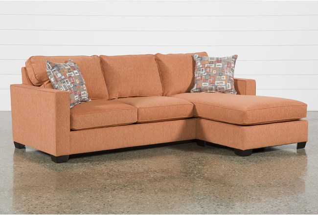 Egan II Tangy Sofa With Reversible Chaise - 360