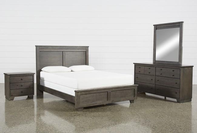 Marco Charcoal California King 4 Piece Bedroom Set - 360