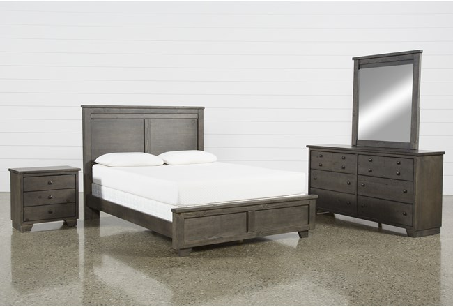 Marco Charcoal California King 4 Piece Bedroom Set - 360