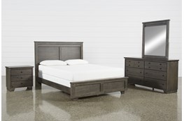 Marco Charcoal Eastern King 4 Piece Bedroom Set