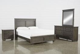 Marco Charcoal Eastern King 4 Piece Bedroom Set