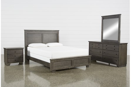 Marco Charcoal Eastern King 4 Piece Bedroom Set - Main