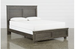 Marco Charcoal Eastern King Panel Bed