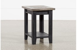 Dixon Black Chairside Table