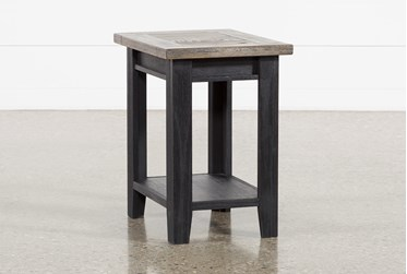 Dixon Black Chairside Table