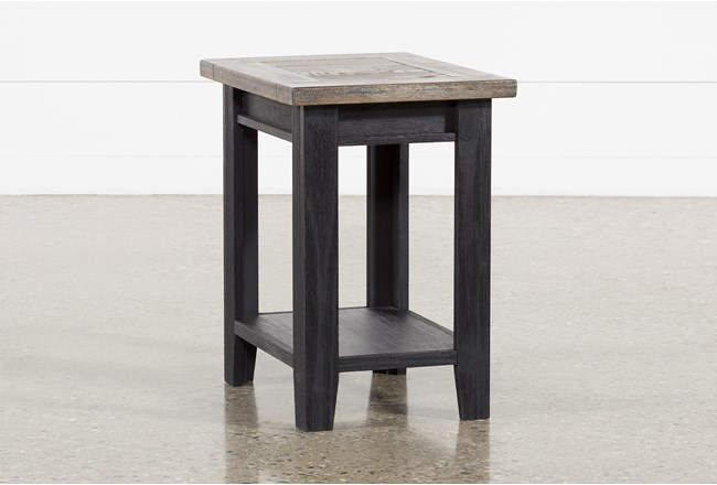 Dixon Black Chairside Table - 360