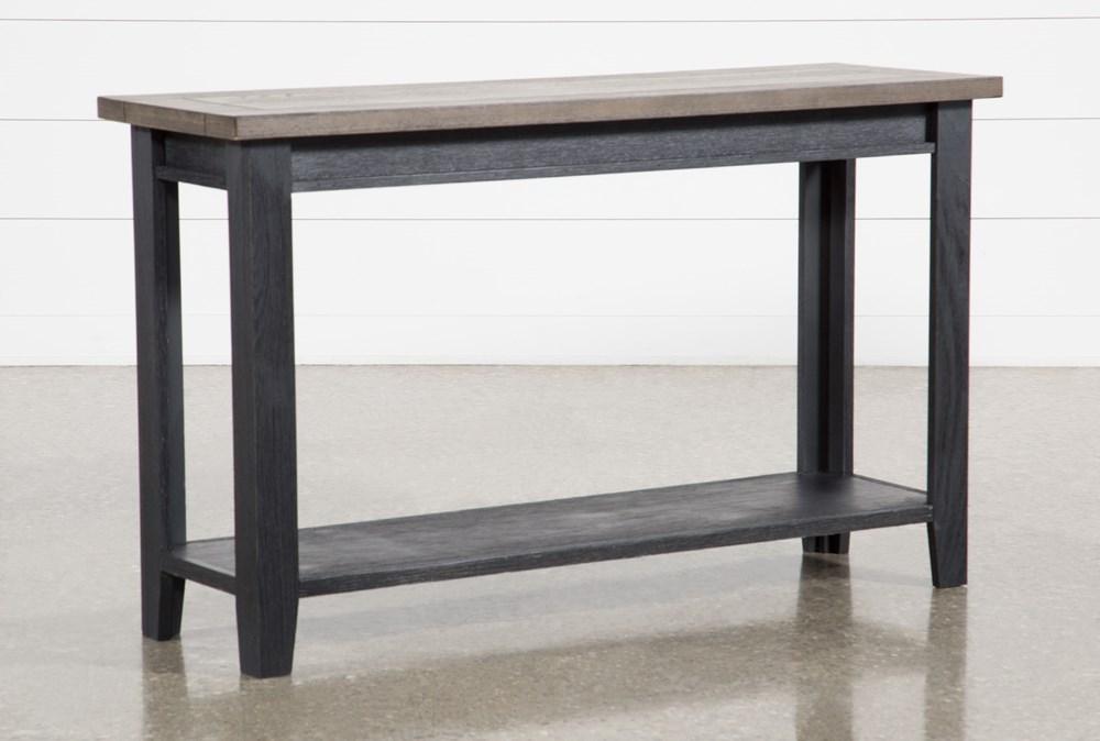 "Dixon Black 51"" Sofa Table"