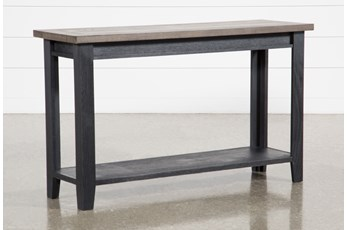 "Dixon Black 51"" Sofa Table"