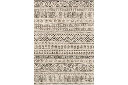 91X126 Rug-Tribal Lines Stone/Graphite
