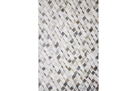 60X90 Rug-Faux Patchwork Hide Grey/Mocha