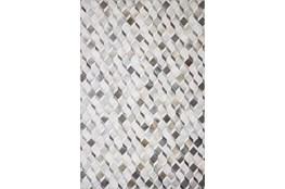 90X114 Rug-Faux Patchwork Hide Grey/Mocha