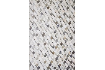 "7'5""x9'5"" Rug-Faux Patchwork Hide Grey/Mocha"