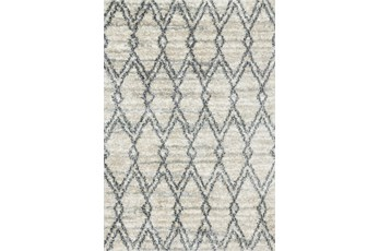 63X90 Rug-Diamond Shag Graphite/Sand