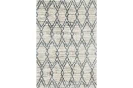 94X130 Rug-Diamond Shag Graphite/Sand
