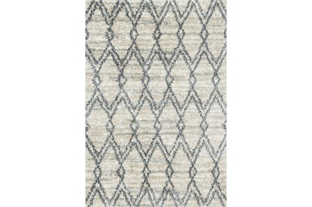 94X130 Rug-Diamond Shag Graphite/Sand