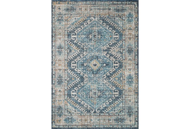 90X114 Rug-Carly Southwest Denim/Natural - 360