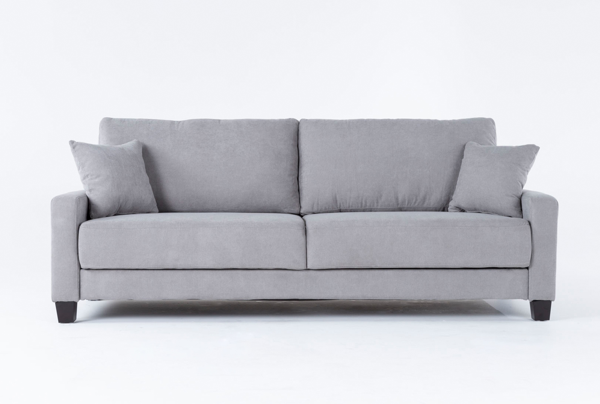 Picture of: Pascal Grey Queen Convertible Sofa Sleeper Living Spaces