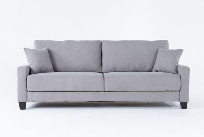 """Pascal Grey 91"""" Queen Convertible Sofa Sleeper - 360"""