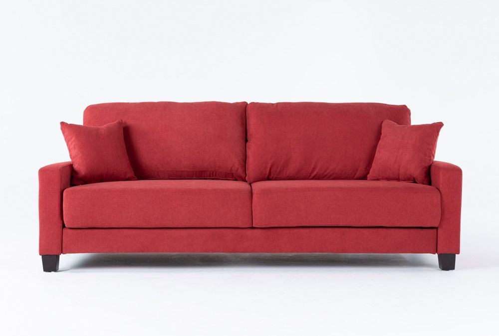 Pascal Red Queen Convertible Sofa Sleeper