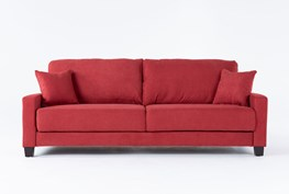 Pascal Red Queen Convertible Sofa Sleeper