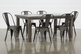 Ashford 7 Piece Dining Set With Delta Bronze Chairs