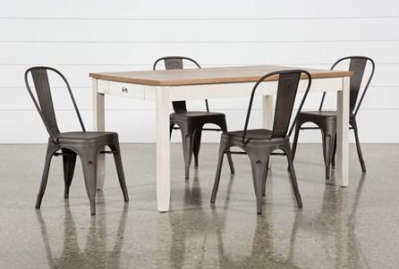 Westshore 5 Piece Dining Set With Delta Bronze Chairs