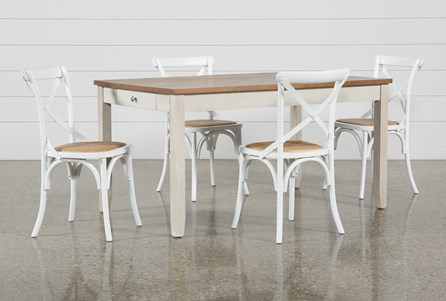 Westshore 5 Piece Dining Set With Ivy Side Chairs