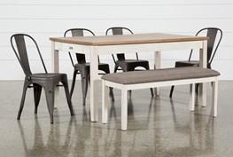 Westshore 6 Piece Dining Set With Delta Bronze Chairs
