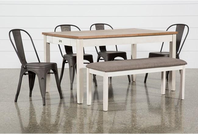 Westshore 6 Piece Dining Set With Delta Bronze Chairs - 360