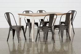 Westshore 7 Piece Dining Set With Delta Bronze Chairs