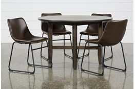 Grady Round 5 Piece Dining Set With Cobbler Chairs