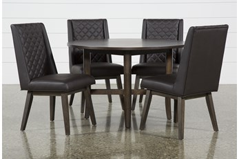 Grady Round 5 Piece Dining Set With Links Chairs