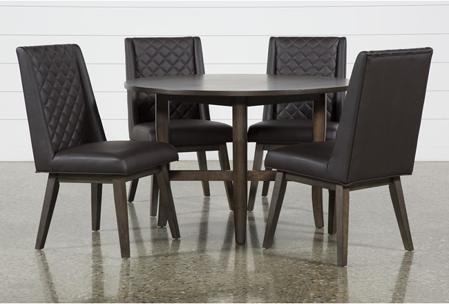 Grady Round 5 Piece Dining Set With Links Chairs - 360