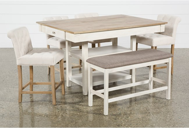 Westshore 6 Piece Counter Set With Kinsey Stools - 360