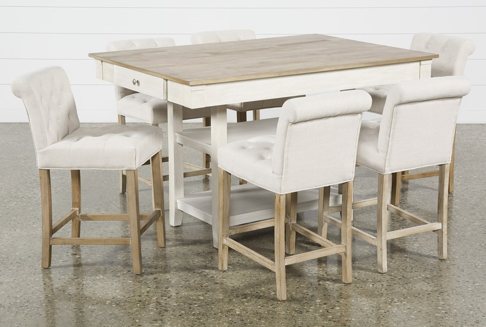 Westshore 7 Piece Counter Set With Kinsey Stools