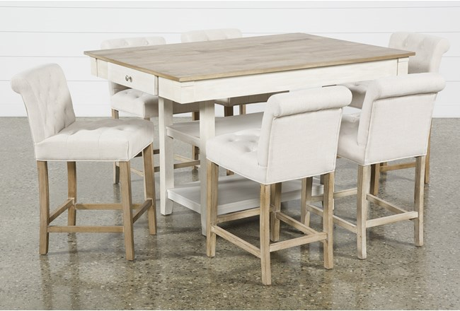 Westshore 7 Piece Counter Set With Kinsey Stools - 360