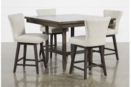 Sutton 5 Piece Counter Set With Alinea Swivel Stools
