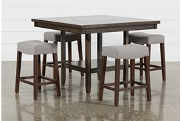 Sutton 5 Piece Counter Set With Cheswick Mineral Stools